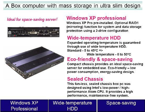 Ultra-Min Box-PC with Internal Mass Storage